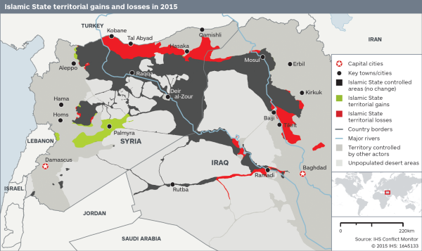 This map shows how much territory ISIS has lost this year - Yahoo ...