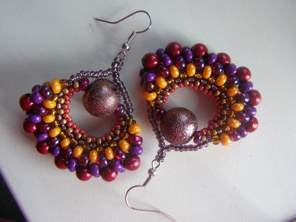 Native American sun would Nimadi - SAShE.sk - Handmade Earrings