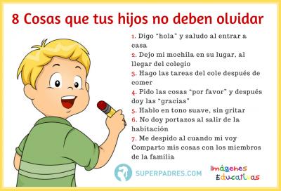 Cosas Que Tus Hijos No Deben Olvidar Consejos Para Padres