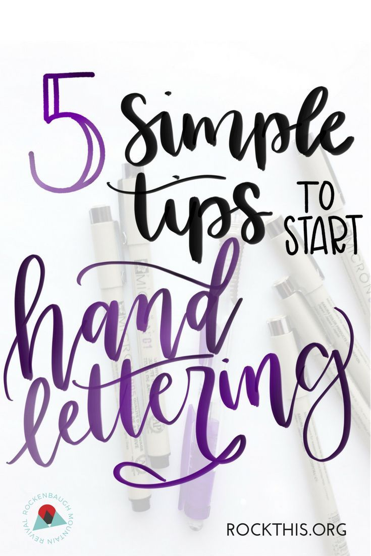 5 Simple Tips To Start Hand Lettering Learning Easy And