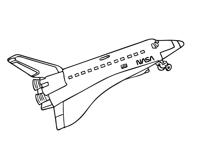 free nasa space shuttle printable and online coloring page