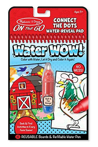Melissa Doug On The Go Water Wow Connect The Dots Water Reveal Pad Learn More By Visiting The Image Link N Coloring Books Connect The Dots Melissa And Doug