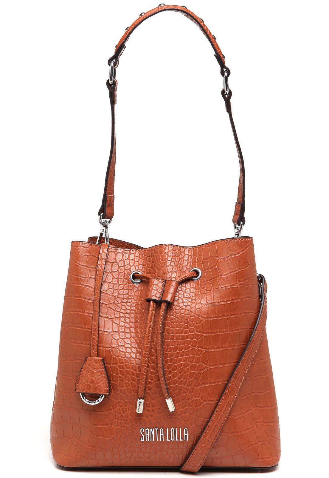 319014e90 Bolsa Saco Santa Lolla Textura Caramelo | Acessorios | Bags e Bucket Bag