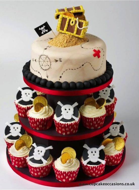 Pirate Party Cupcakes Pinterest Birthdays Pirate Birthday And