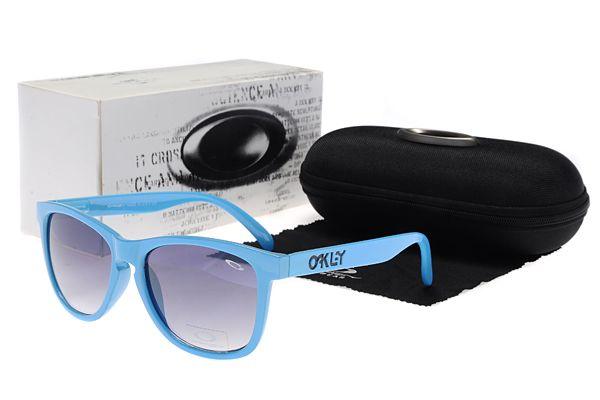 d0b12c69fdb Oakley Frogskins Sunglasses Blue Frame Blue Lens