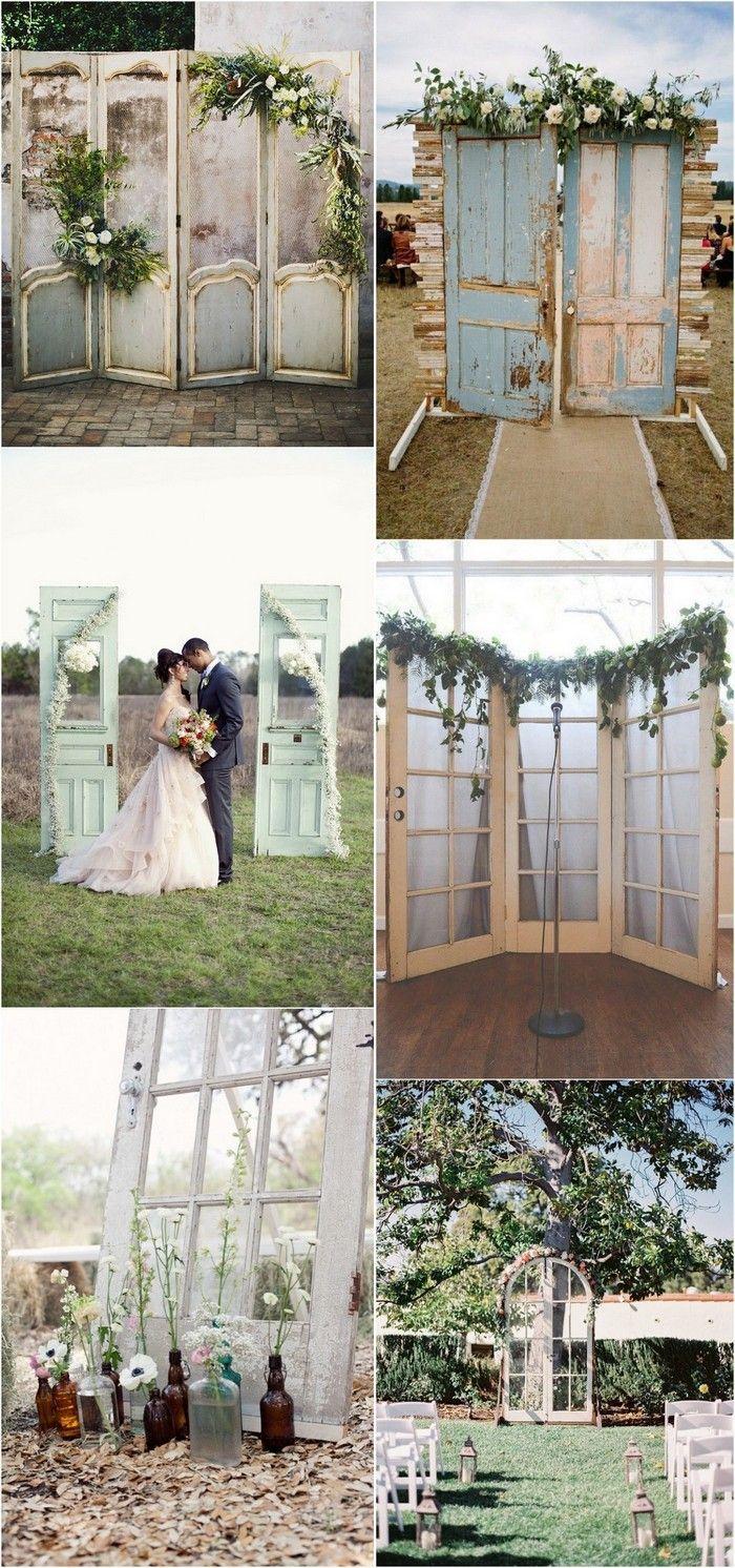 Diy vintage wedding decoration ideas   Wedding Decoration Ideas with Vintage Old Doors  Dream Wedding
