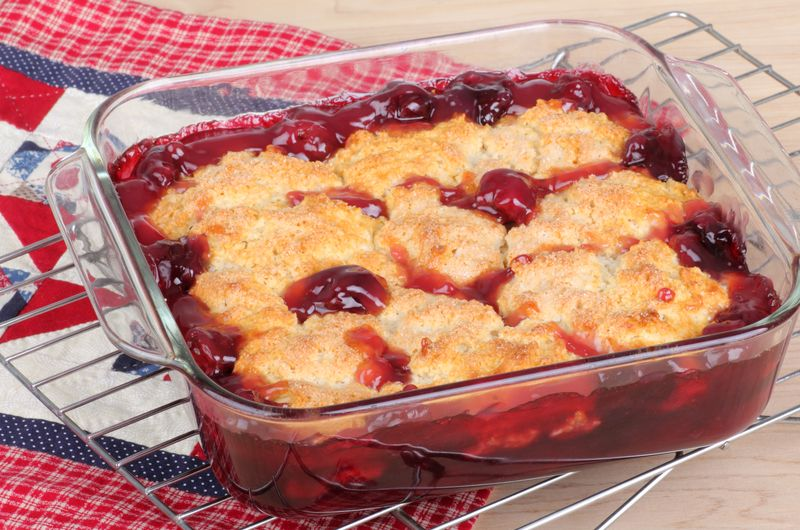 This incredible cherry cobbler makes enough for four to six servings but if you need more for a party, you can always double or triple the ingredients. This recipe is