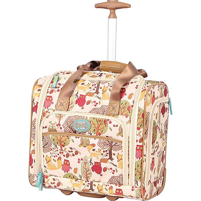 Lily Bloom Under The Seat Bag Forest Owl Lily Bloom Rolling Bag Carry On Luggage