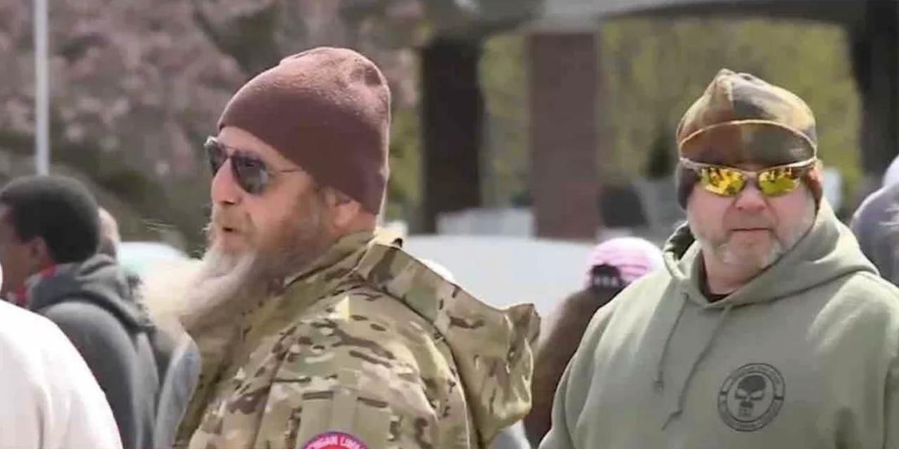 Michigan Militia Members Say They Won T Allow Police To Arrest 77 Year Old Barber Defying Democratic Gov Whitmer S Shutdown Order In 2020 Michigan Police State Police