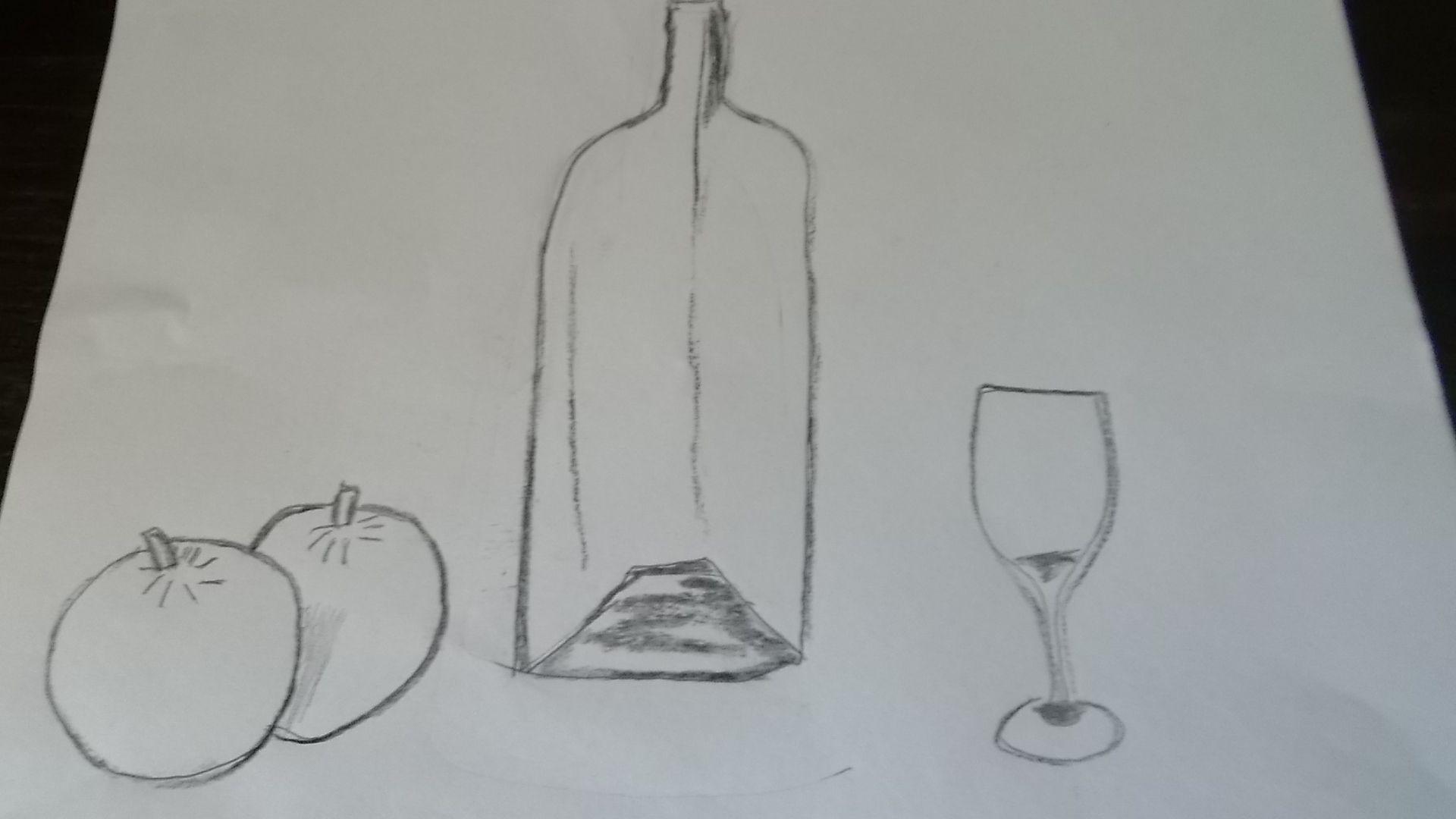 dibujo de boceto bodegon