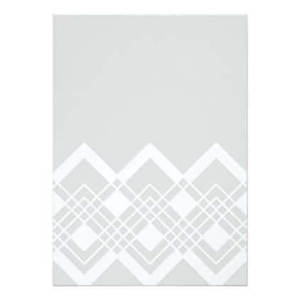 Abstract Geometric Pattern - Gray And White. Card