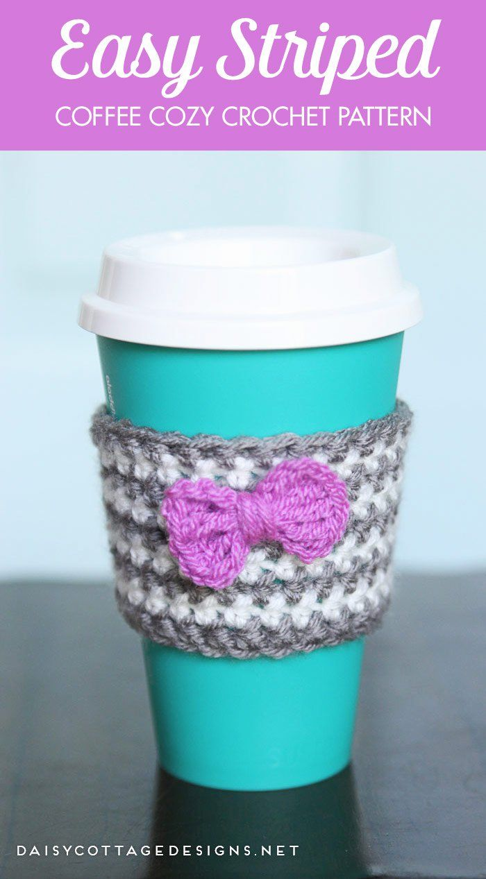 Coffee Cozy Pattern Simple Inspiration Design