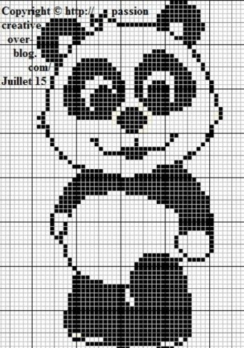 Tuto Grille Panda Perler Bead Pinterest Point De