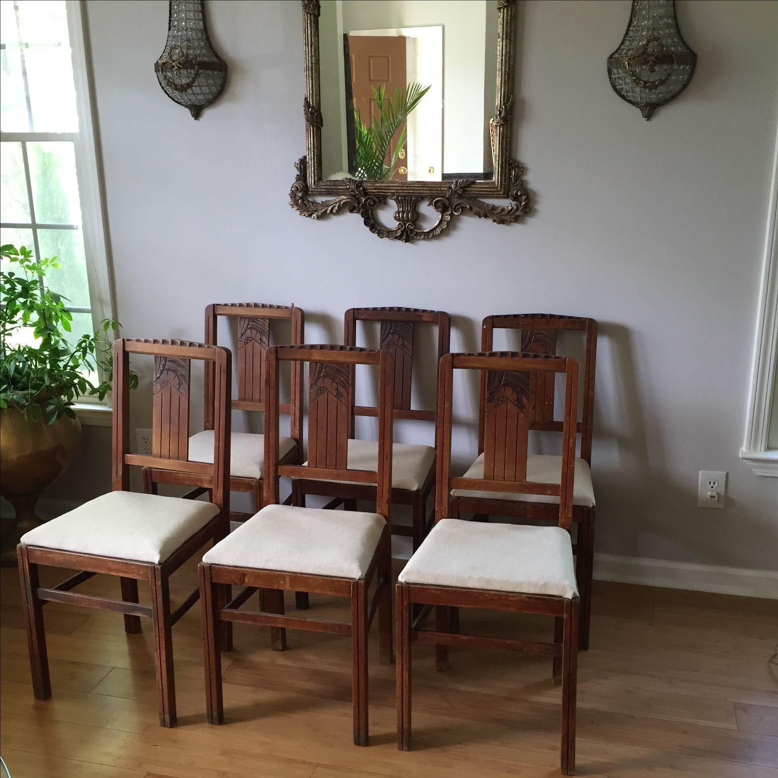 Image Of Sieges Arts Crafts Dining Chairs Set Of 6 Dining