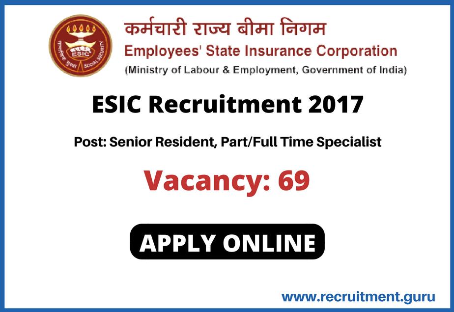 Esic Esicjobs Senior Resident Government Jobs Job