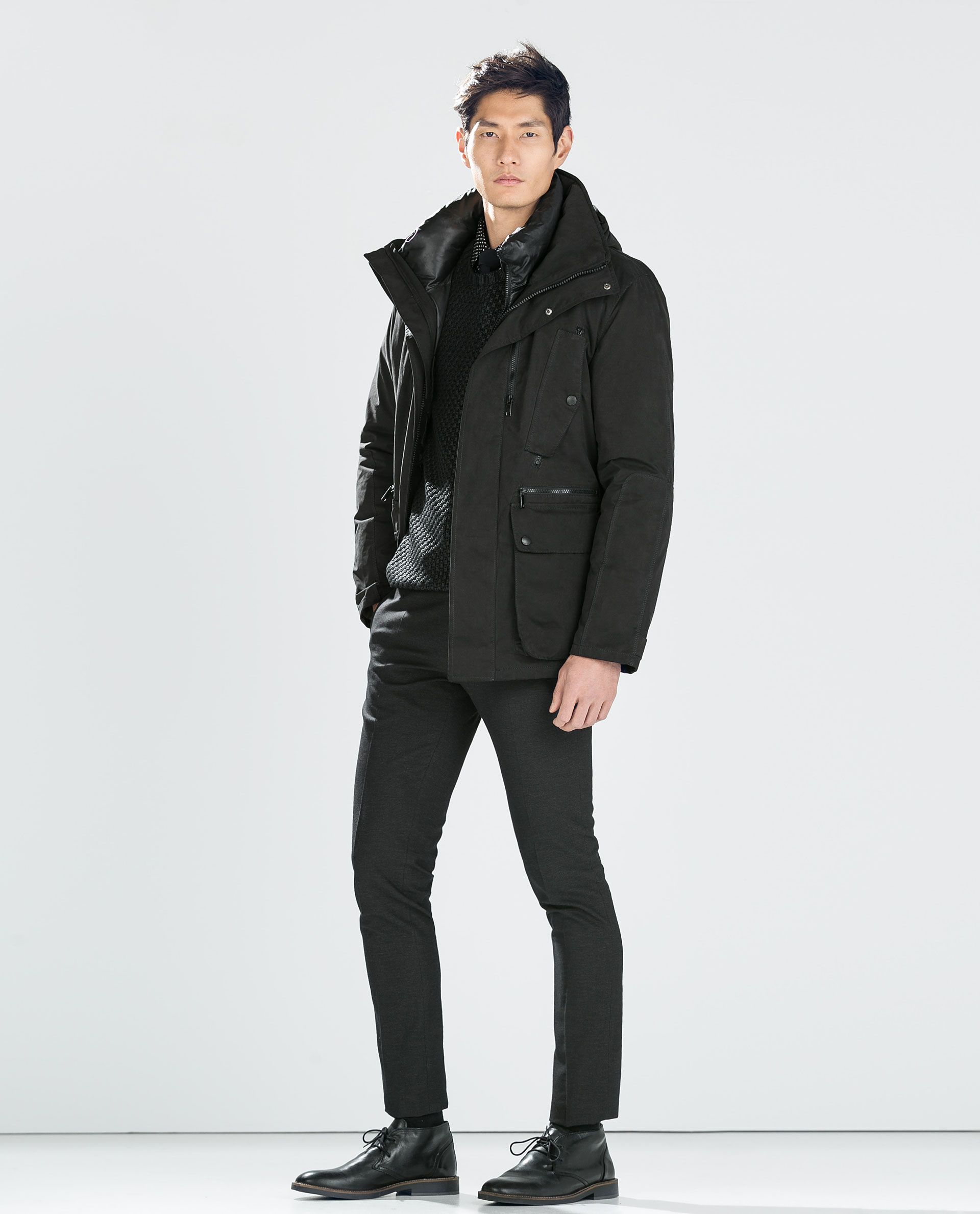 d760125c3 Image 1 of DETACHABLE DOWN JACKET from Zara | mens in 2019 | Heavy ...