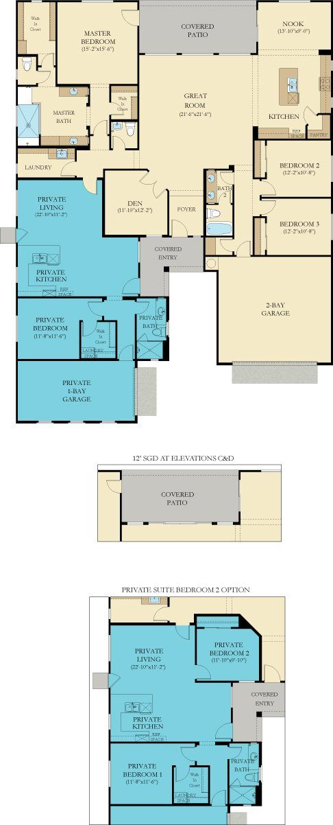 Mother In Law Suite House Plans Addition In Law Apartment Ideas: Good 2 Bedroom Option In Granny Flat. Still Need Bunk Room And Storage Plan.