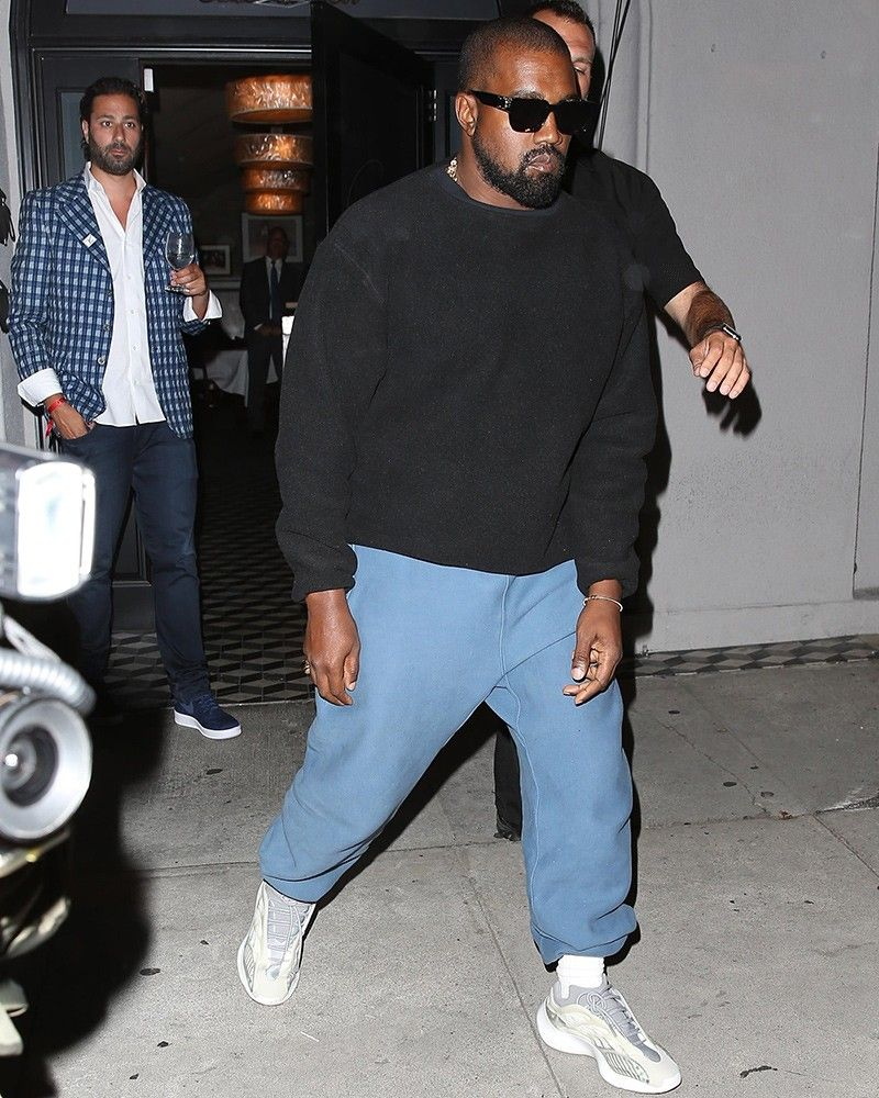 Kanye West steps out in YEEZY Calabasas track pants and