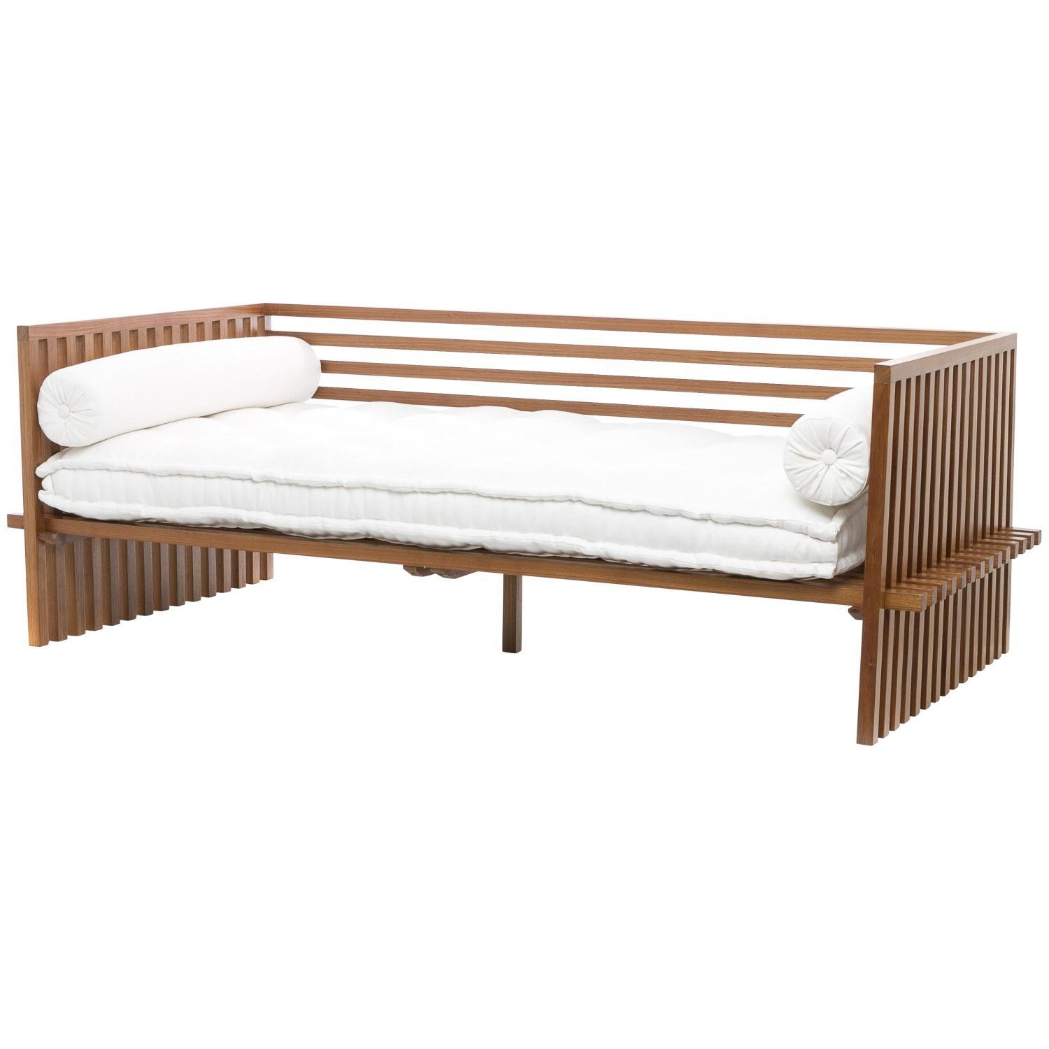 Futon Daybed Sofa Contemporary Japanese Style Sofa In Solid Wood