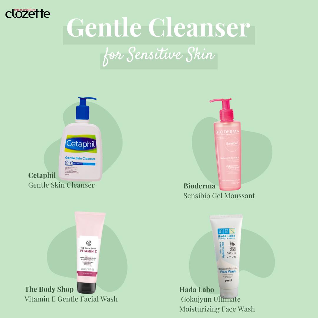 Gentle Cleanser for Sensitive Skin di 2020 Kulit