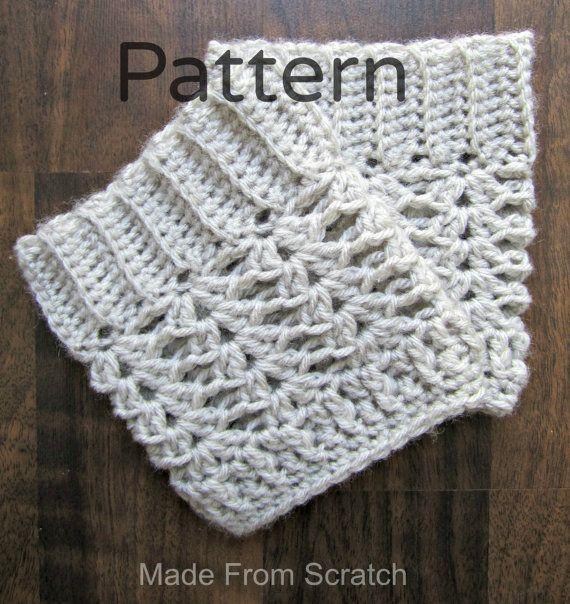 Crochet Boot Cuff/ leg warmer Pattern PDF | Crochet doble, Direccion ...