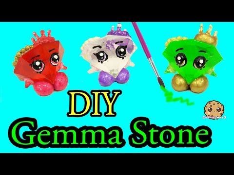 Diy green gemma stone custom shopkins do it yourself craft diy green gemma stone custom shopkins do it yourself craft cookieswirlc video youtube solutioingenieria Images