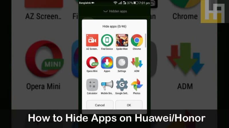 How to hide apps on any huawei and honor device huawei app