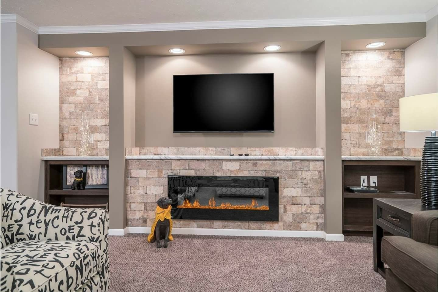 Great Fireplace Idea Living Room Remodel Room Remodeling