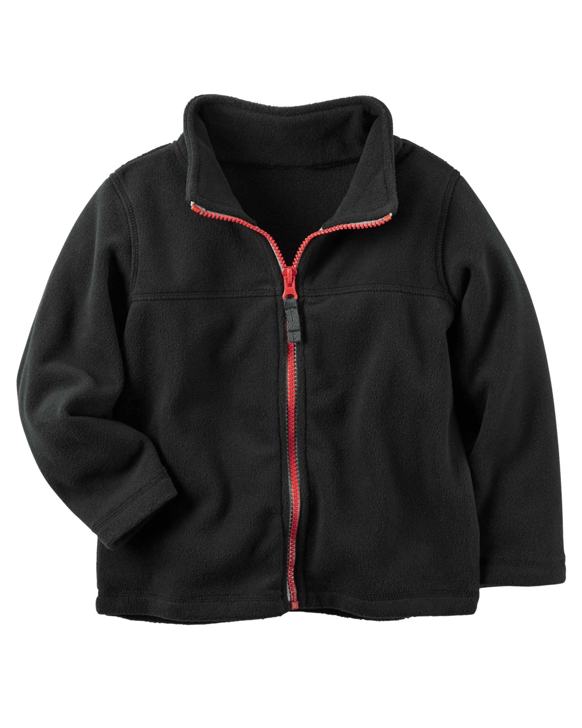 68cd12c6b65b Baby Boy Zip-Up Heavyweight Fleece Jacket