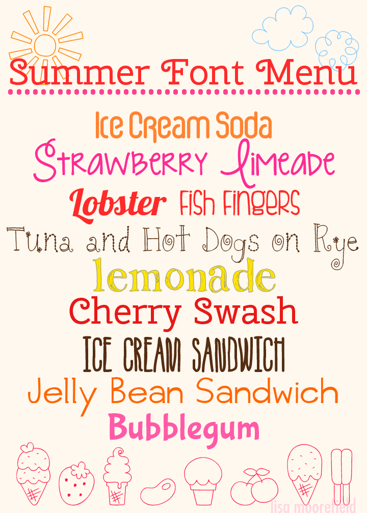 Deliciously Free Summer Fonts {12 free fonts w/ easy