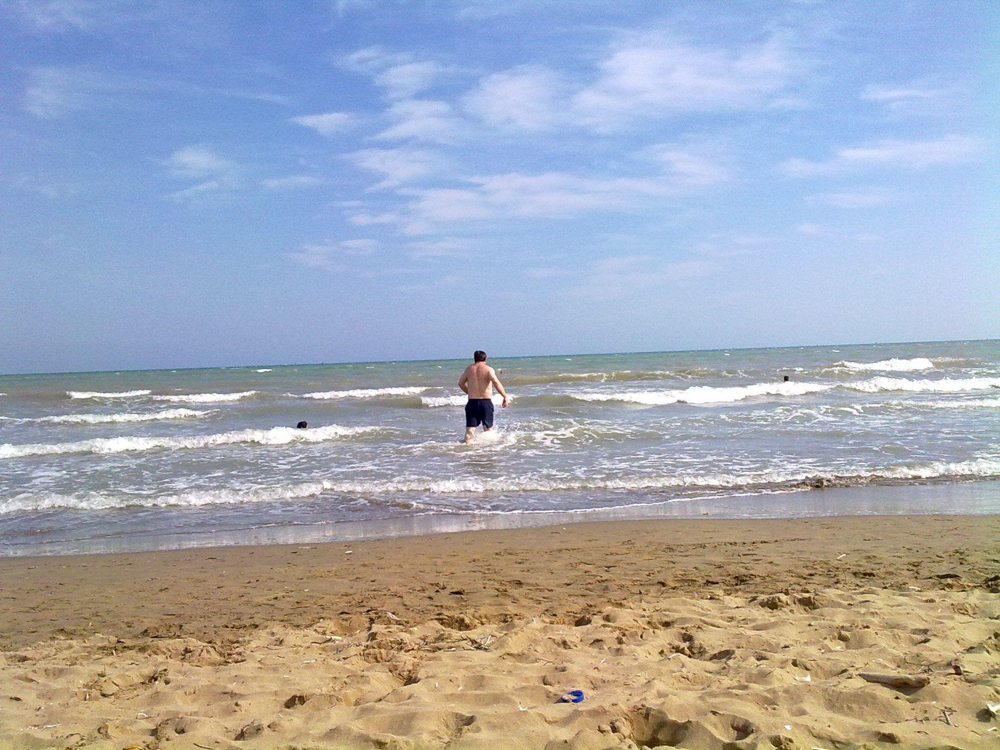 Abkühlung im Mittelmeer