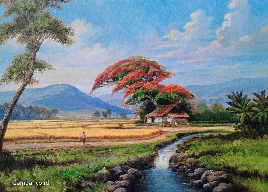 31 Gambar Background Pemandangan Sawah Wallpaper Lukisan Lukisan Pemandangan Sawah Pegunungan Hd Download Wallpaper Pemandangan A Di 2020 Pemandangan Gambar Alam