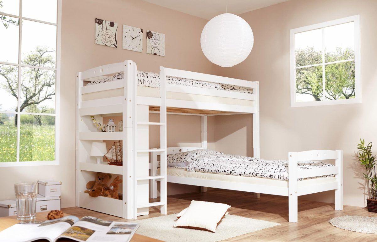 Etagenbett Ticaa : Ticaa etagenbett mit rutsche lupo buche massiv weiß motiv küche