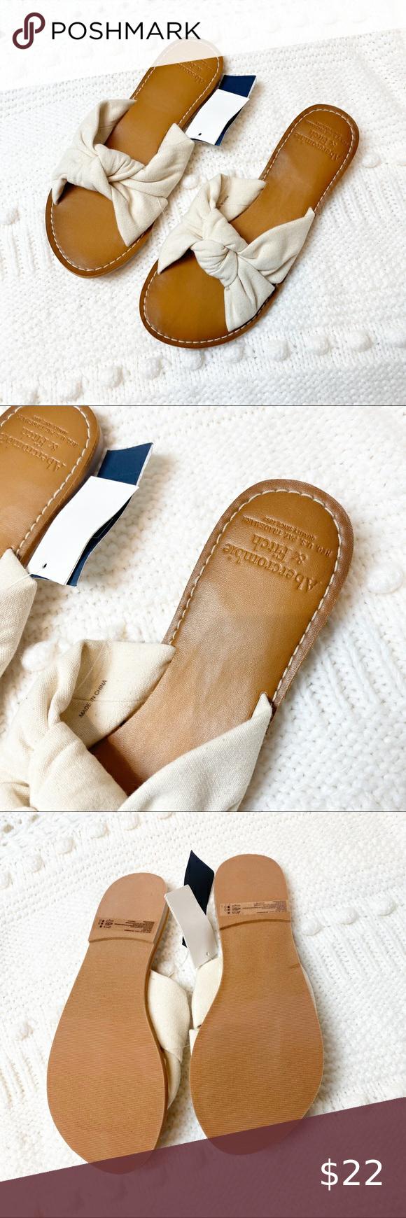 Abercrombie Knot Slide Sandals size 6/7