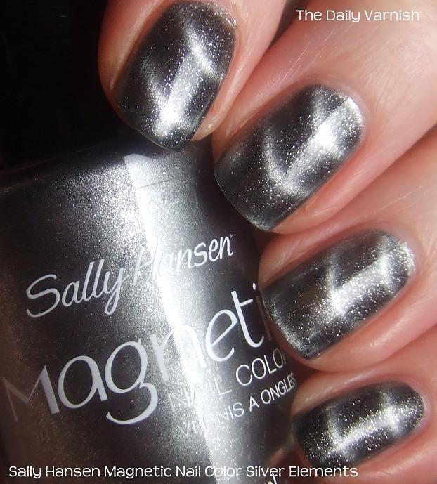Magnetic nail polish—whoa! Sally Hansen Magnetic Nail Color Silver ...