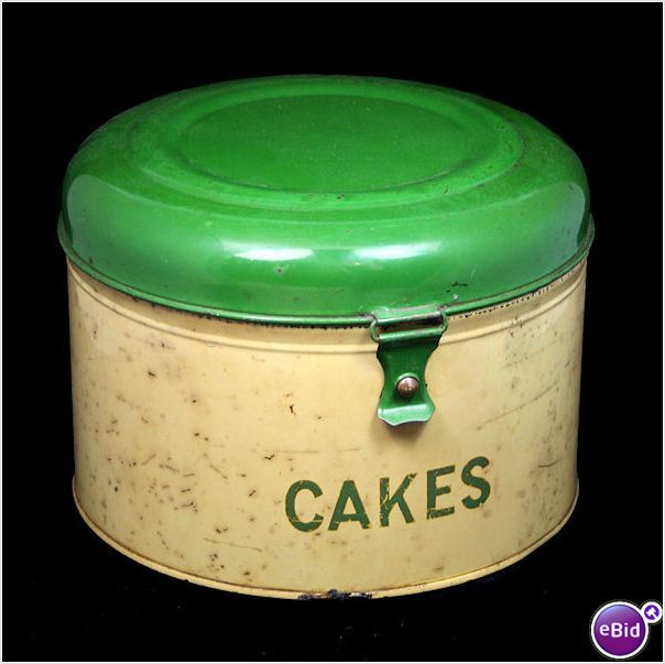Vintage Cake Tin Via Ebid Vintage Cake Plates Vintage Tins Vintage Canisters