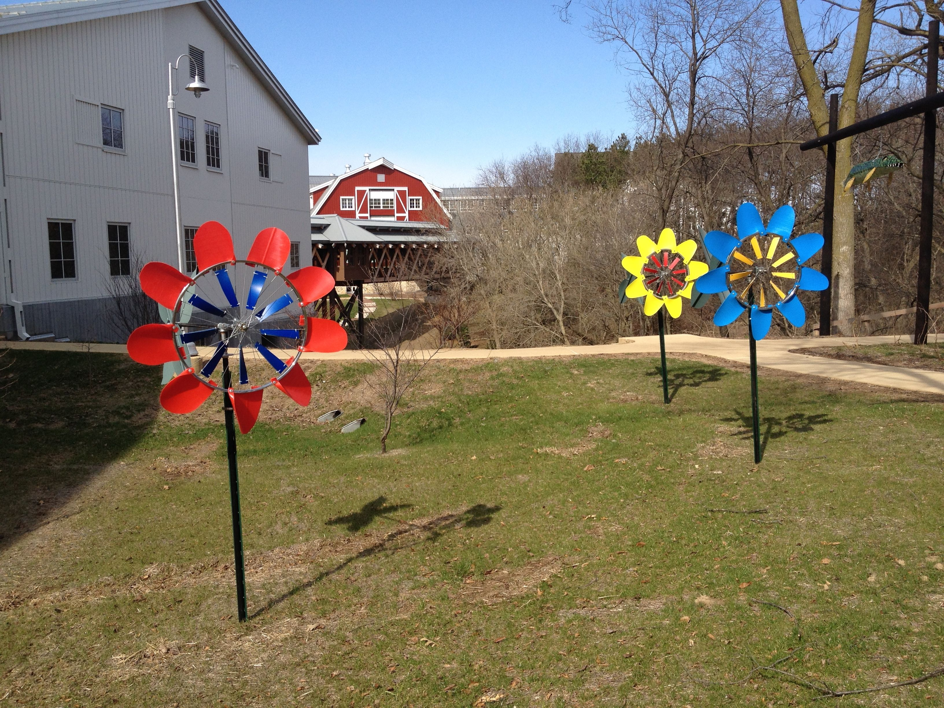 Windflower Kinetic Garden Sculptures From Windworker Studio At Epic Systems  In Verona, WI. See