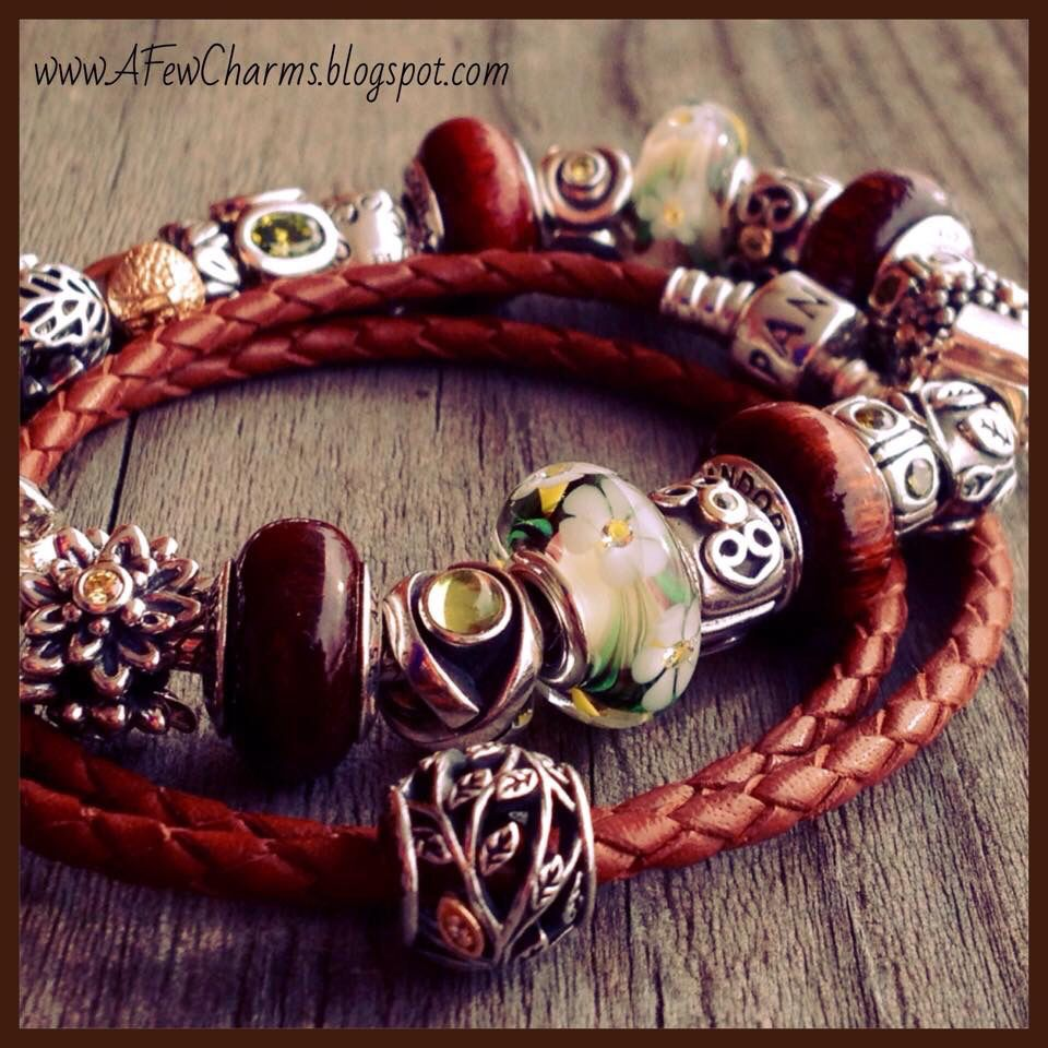 Leather · Pandora Braided Red