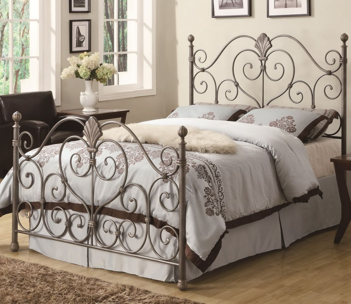 Swirl silver bed frame Remodeling Home Designs Iron