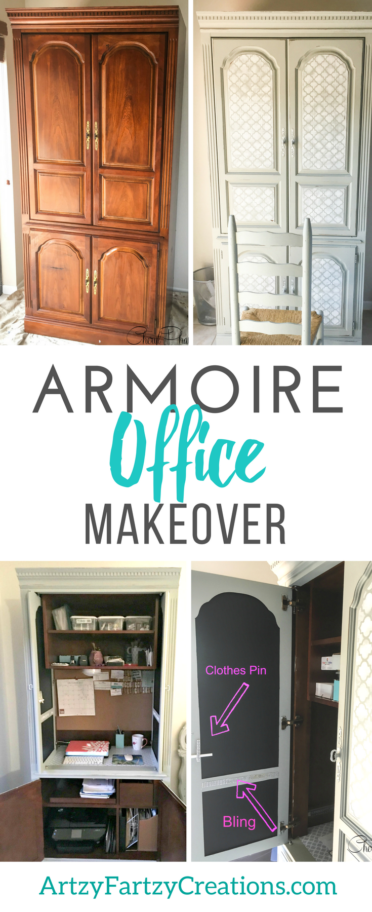 Etonnant Hereu0027s A Functional Armoire Office Makeover. An Office In An Armoire Is A  Perfect Solution If You Donu0027t Have Dedicated Home Office Space And