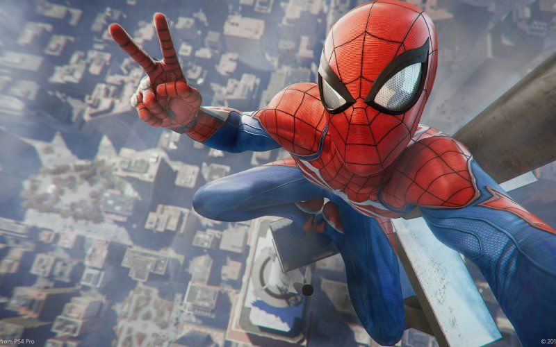 Wallpaper Spider Man Ps4 Video Game Selfie 2018