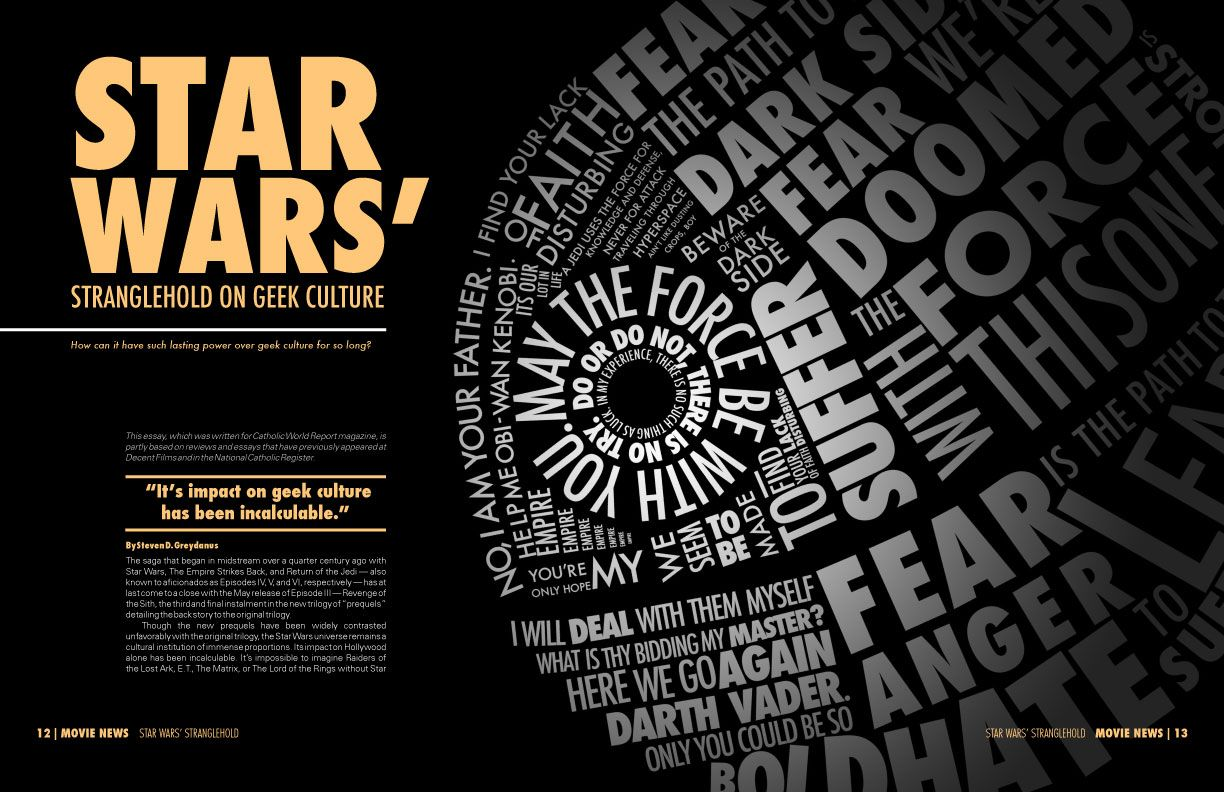 star wars typogram magazine sp creativity typogram star wars typogram magazine spread