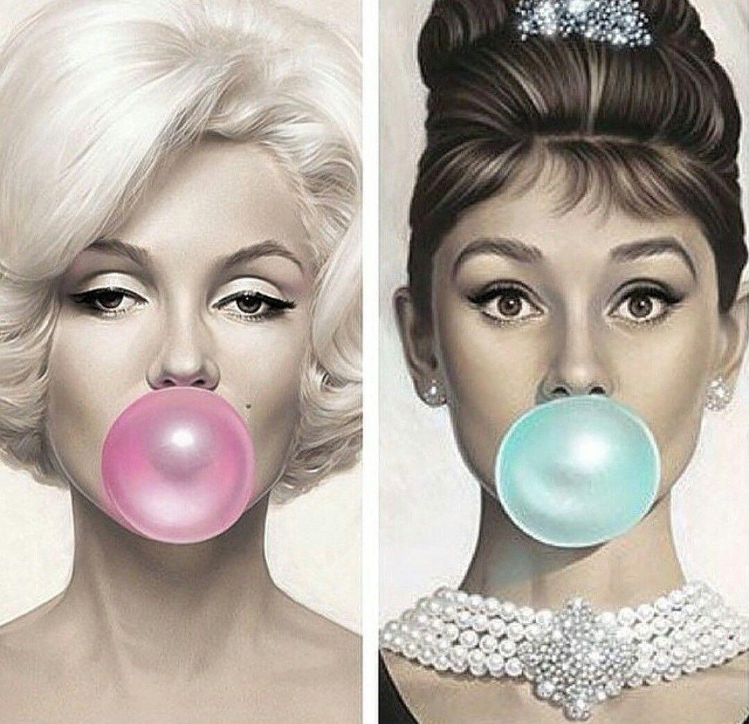 Details About Two Framed Prints Audrey Hepburn Marilyn Monroe
