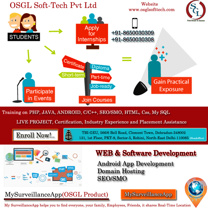 Pin by OSGL SoftTech Pvt Ltd on INTERNSHIP With LIVE
