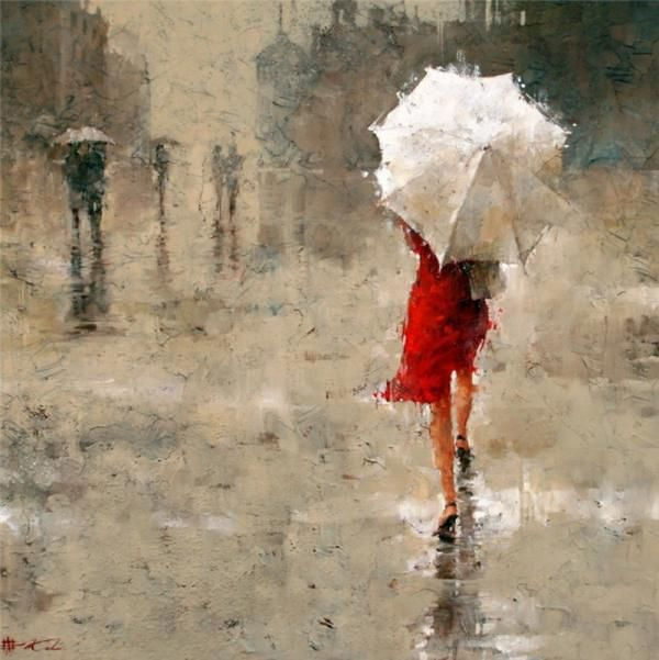 Beautiful Oil Paintings by Andre Kohn | Paintings, Oil and Rain