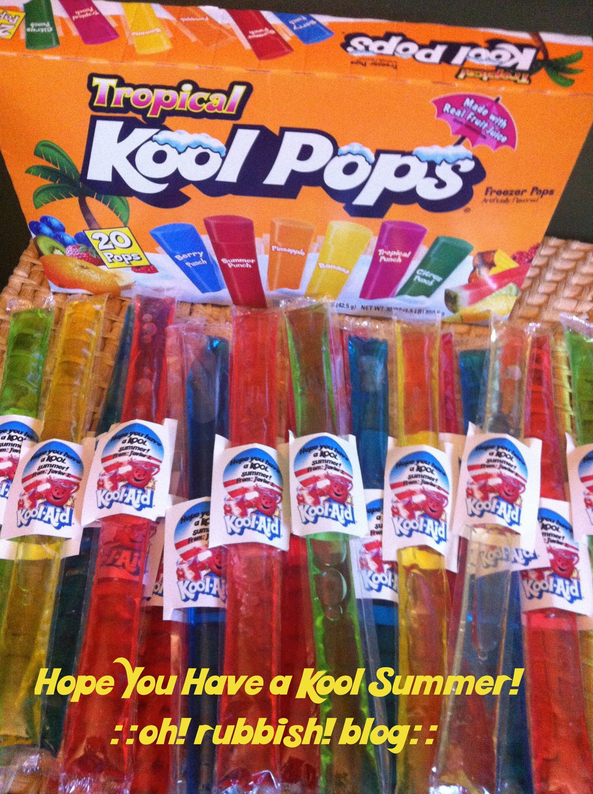 Hope You Have a Kool Summer :: Kool-aid Freezer Pops with ...