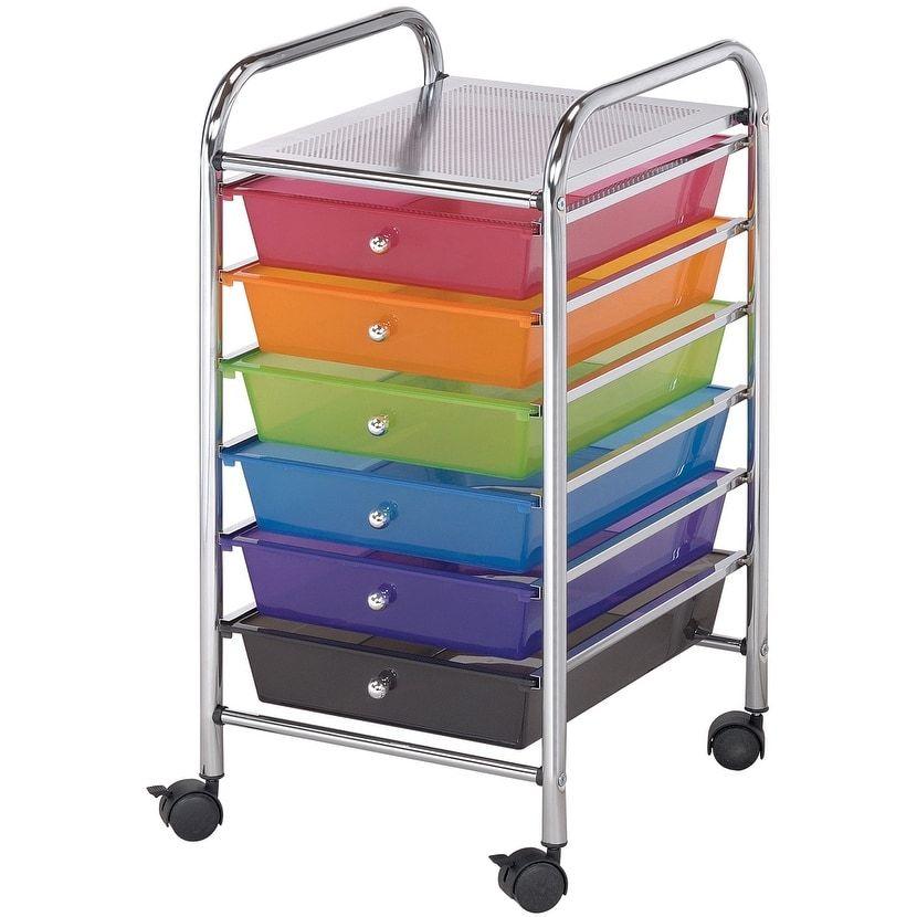 Alvin Company Storage Cart W6 Drawers13X26X155 Multicolor