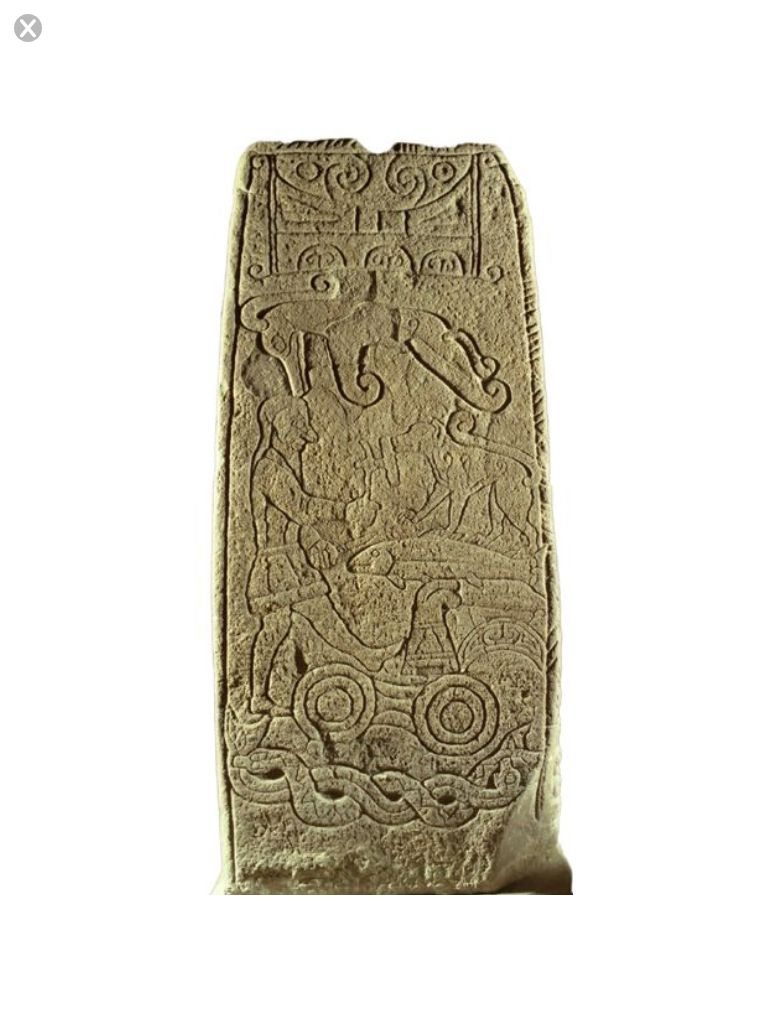 1226 the back of a cross slab from golspie in northern scotland the back of a cross slab from golspie in northern scotland profusely decorated with pictish symbols biocorpaavc Image collections