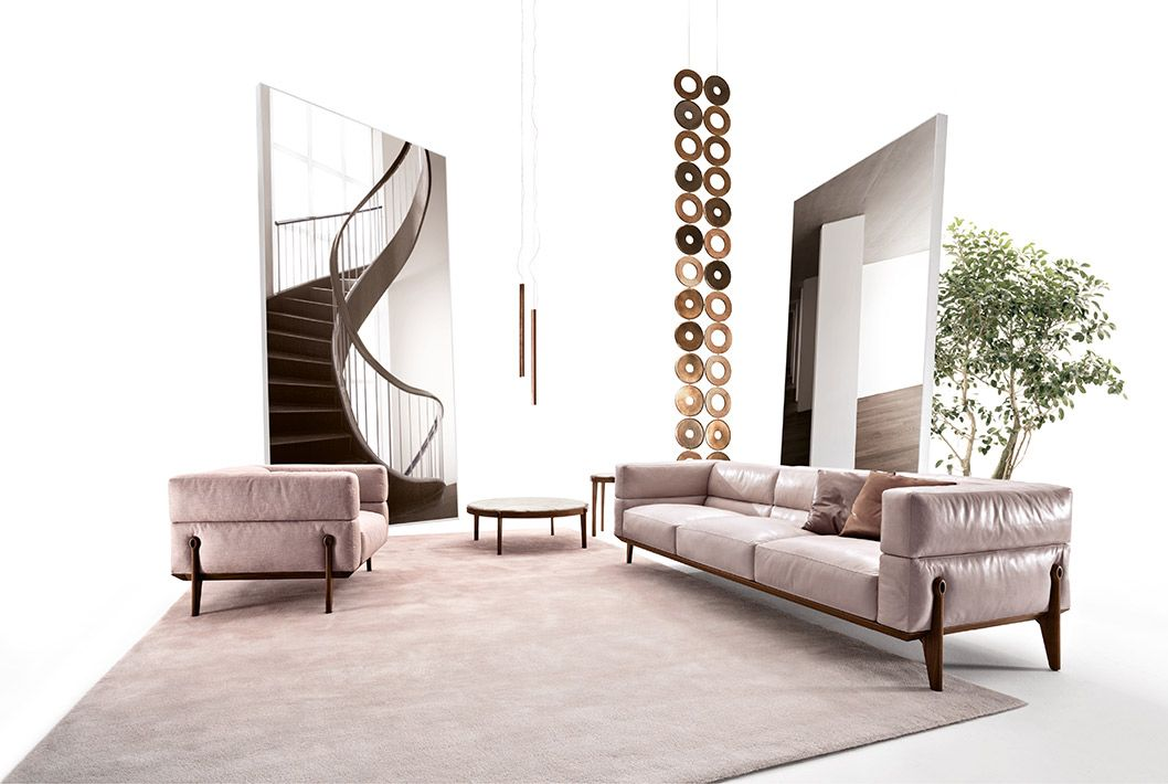 Ago sofa, armchair & coffee tables Bond screen