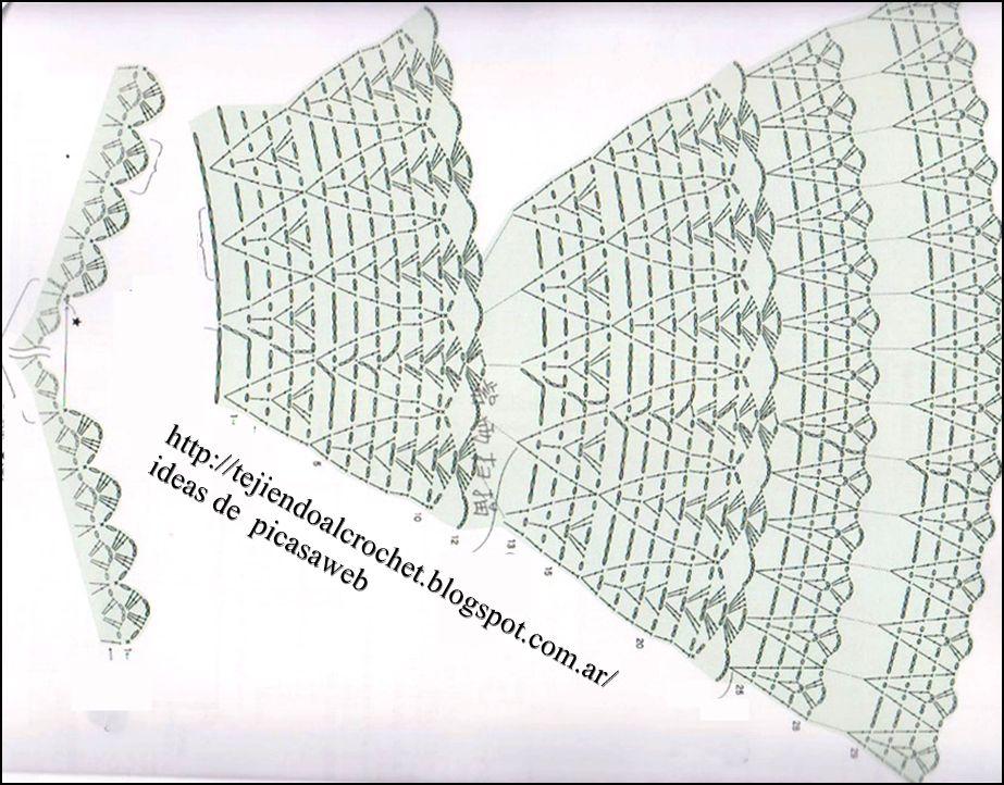 Asombroso Patrones De Crochet Libre Vestido De Bautizo Inspiración ...